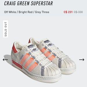 Adidas x Craig Green Superstar Sneaker Size 8